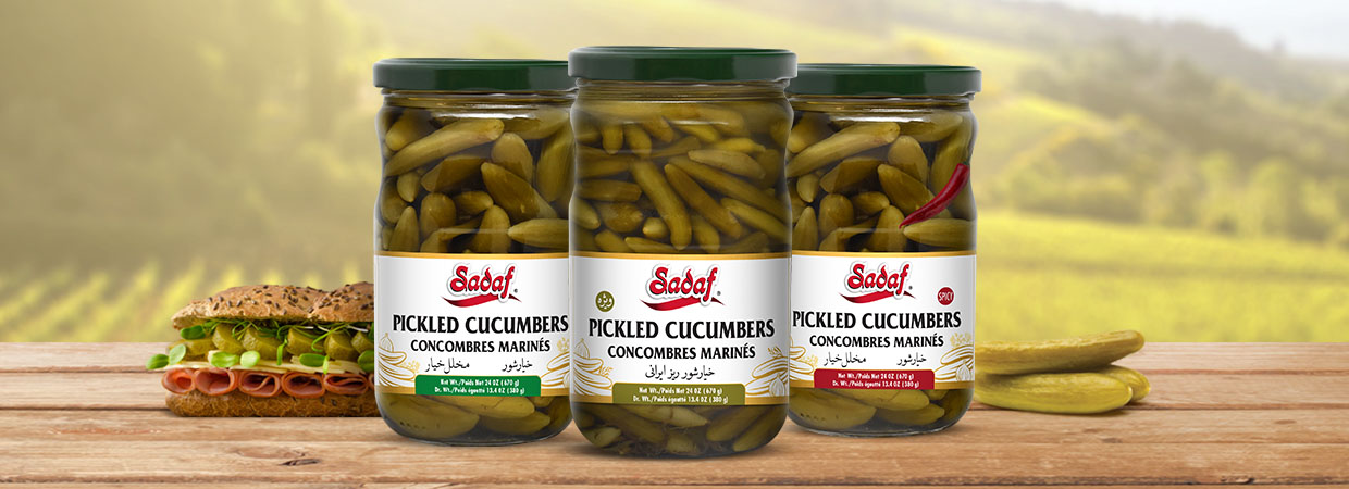 Sadaf Cucumber Pickles Promotion Banner