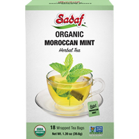 Image for Sadaf Organic Moroccan Mint Tea 18 Teabags 1.39 oz.